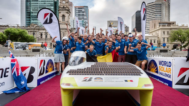 Punch Powertrain Solar Team is third on world championship for solar cars